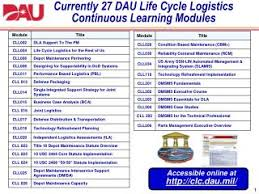 Ppt Currently 27 Dau Life Cycle Logistics Continuous