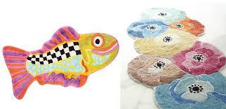 left from mackenzie childs the handmade happy fish bath mat is 70 at mackenzie childs