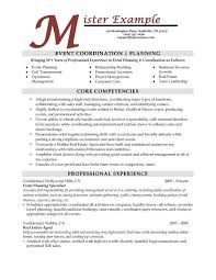 Event Planning Resume Samples