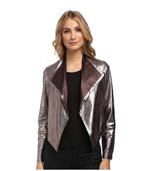 nicole miller gold multi jackets for women non stretch leather jacket on