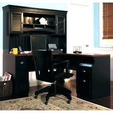 corner computer desk with hutch for home modern office and set co