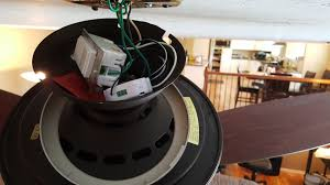 and it will have to be located up at the ceiling fan in my house i had to install both the ge and the smart dimmer up in the fan canopy ceiling box