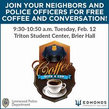 Coffee With A Cop Flyer Edmonds Community College News Coffee With A Cop At