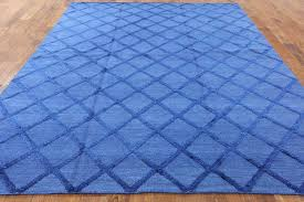 blue moroccan rug uk oriental wool silk 8 x golden 2