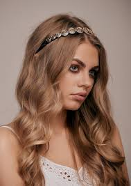 Hairband Hairstyle serena gold coin headband taylor & rose 7912 by wearticles.com