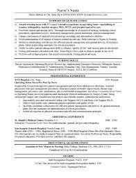 Sample Of Nursing Resume Resume Templates