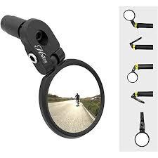 Hafny Bar End <b>Bike</b> Mirror, Stainless Steel Lens, Safe <b>Rearview</b> Mirror