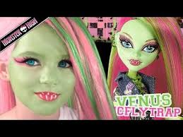 venus mcflytrap monster high doll costume makeup tutorial for cosplay or monster high dolls