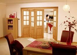 roomfold barcelona oak glazed internal folding sliding doors