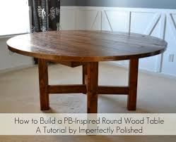 11 diy round dining room table the most round wood table tutorial with diy round dining