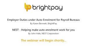 Employer Duties Under Auto Enrolment For Payroll Bureaus Guest Spea