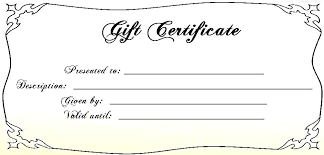 Free Gift Template