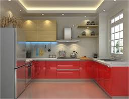 Recessed Kitchen Cabinets Adorable Recessed Ceiling Lighting L Shaped Storage Cupboard