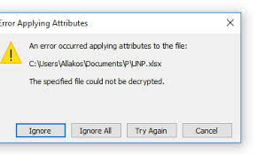 Encrypted Excel Files Unable To Access Encrypted Excel File