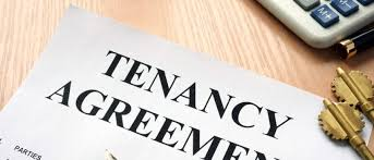 tenancy agreement and security deposit