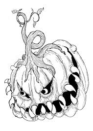 Scary Coloring Pages Pumpkin Coloringstar