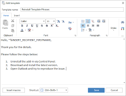Outlook 2010 Templates Download Template Phrases For Microsoft Outlook