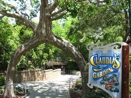 circus tree at entrance to claudia s garden at gilroy gardens