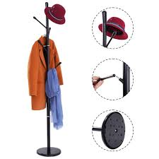 Coat Bag Rack Costway Rakuten Costway Metal Coat Rack Hat Tree Stand Clothes 87