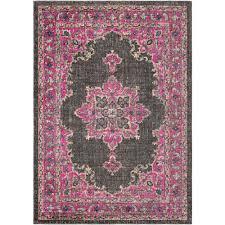 artistic weavers caetlin pink black 2 ft x 3 ft area rug