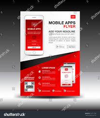 Flyer Design App Mobile Apps Flyer Template Business Brochure Stock Vector