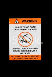 Vending Machine Sign Amazing Vending Machine Hazard Sign Stock Photos FreeImages