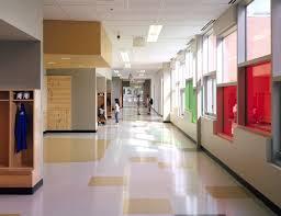 hallway at school. hallway at school