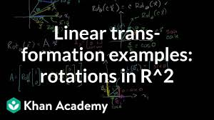 Linear Transformation Examples Rotations In R2 Video