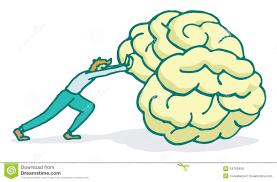 Man Pushing A Huge Brain Forward Stock Vector - Illustration of idea,  strong: 54702459