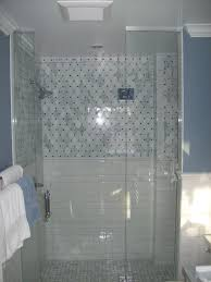 Brilliant Modern Walk In Shower Without Doors Added White Gloss Marble  Shower For ...