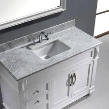 Virtu USA Victoria 48 Single Bathroom Vanity Set in White Bathtubs