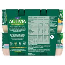 Activia Light Sugar Content Activia Light Strawberry Banana Peach Nonfat Yogurt 4 Oz