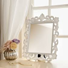 ornate dressing table mirror mirrors white ornate a4 vintage picture frame co uk