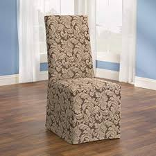 sure fit scroll dining room chair slipcover brown sf36211
