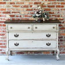 extreme painted furniture makeover two tone finish