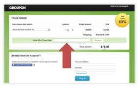 how to add a groupon code