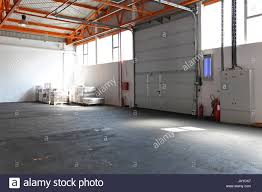 industrial garage door. Industrial Garage Door At Factory Entrance