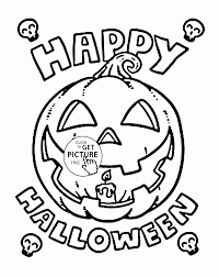 Happy Halloween Pumpkin Coloring Pages For