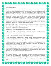 a argumentative essay parts of the argument essay include  a argumentative