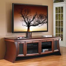 interiors attractive tv stand furniture wood curved brown big screen with mount also console cabinet storage