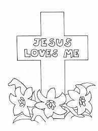 Jesus Loves Me Coloring Sheet Free Download