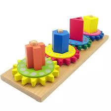 Đồ chơi thông minh bộ lắp ráp bánh răng bằng gỗ đẹp cho bé