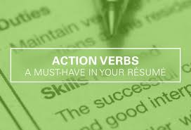 action verbs a must have in your r eacute sum eacute
