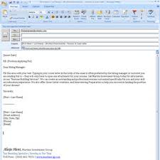 Sample Email Format For Sending Resume Emailing A Cover Letter In
