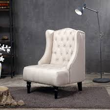 wingback accent chair tall high back living room