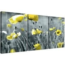 metal poppy wall art metal poppy wall art black and white canvas grey yellow poppies set of living room display wall art ideas design artistry poppies