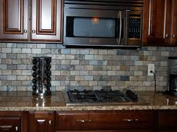 Grey And White Kitchen Interior Idea With Subway Tile Backsplash