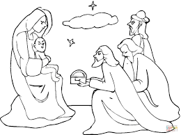 Small Picture Three Wise Men Came To See Jesus coloring page Free Printable
