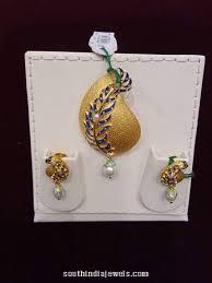 22k gold designer pendant set