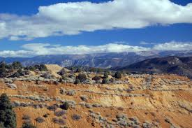 Nevada high desert, Ruth Ely mountains with coppermine in the ...